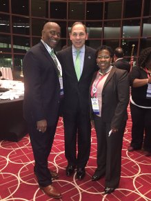 VA Secretary Robert McDonald with Mike Black and Avis Dillard-Bullock of JMA